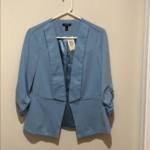 NWT baby blue/faded blue Torrid Blazer
